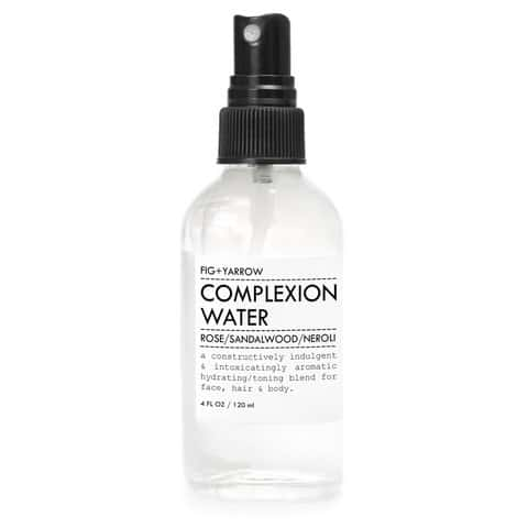 Fig + Yarrow Complexion Water. One of the first steps in the hydrating natural facial from The Conscious Collective