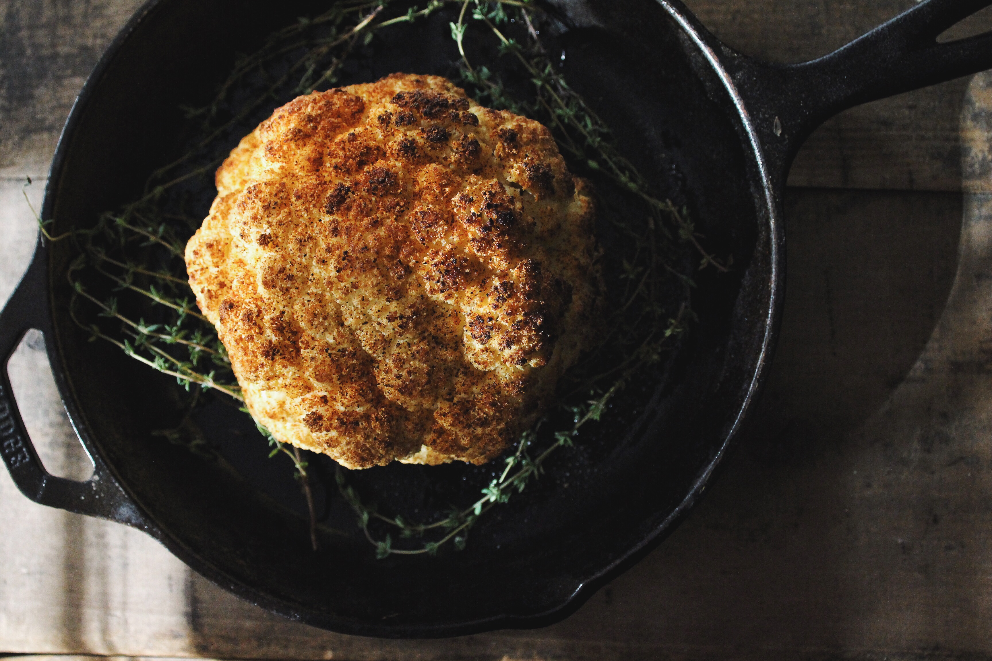 whole roasted cauliflower with sumac // the conscious collective