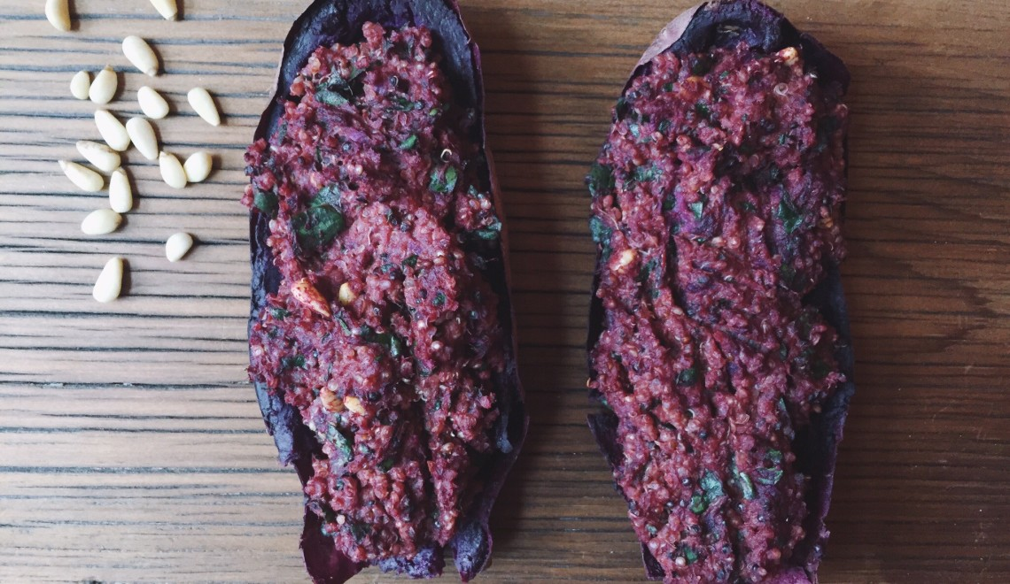 Vegan Twice-baked sweet potatoes || The Conscious Collective