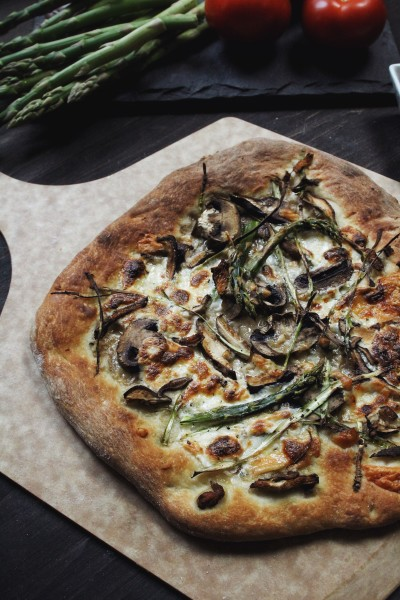 Farmers Market Pizza with asparagus by The Conscious Collective