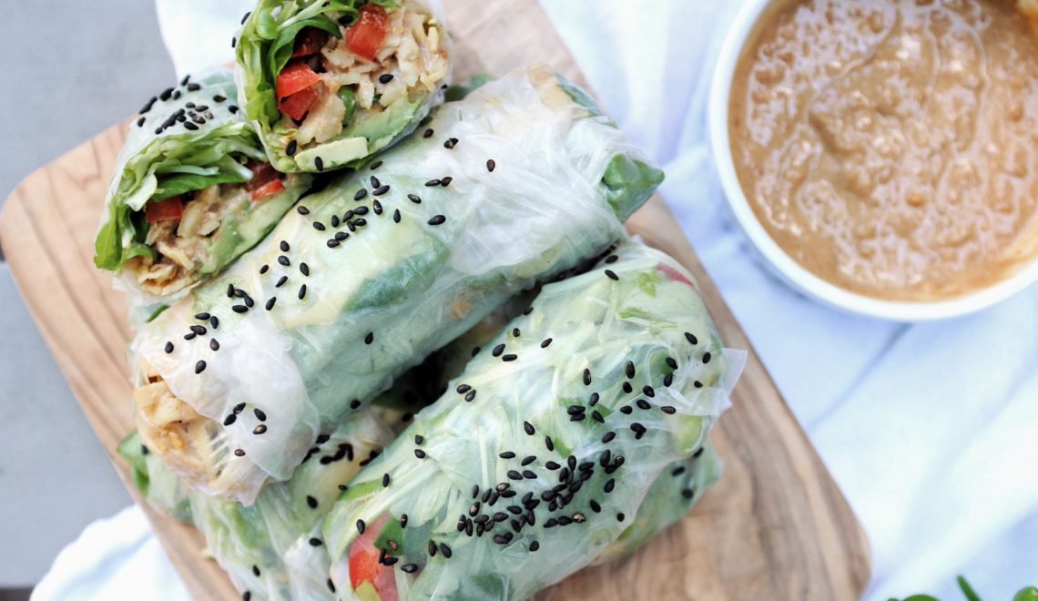 Sweet Potato Summer Rolls || The Conscious Collective