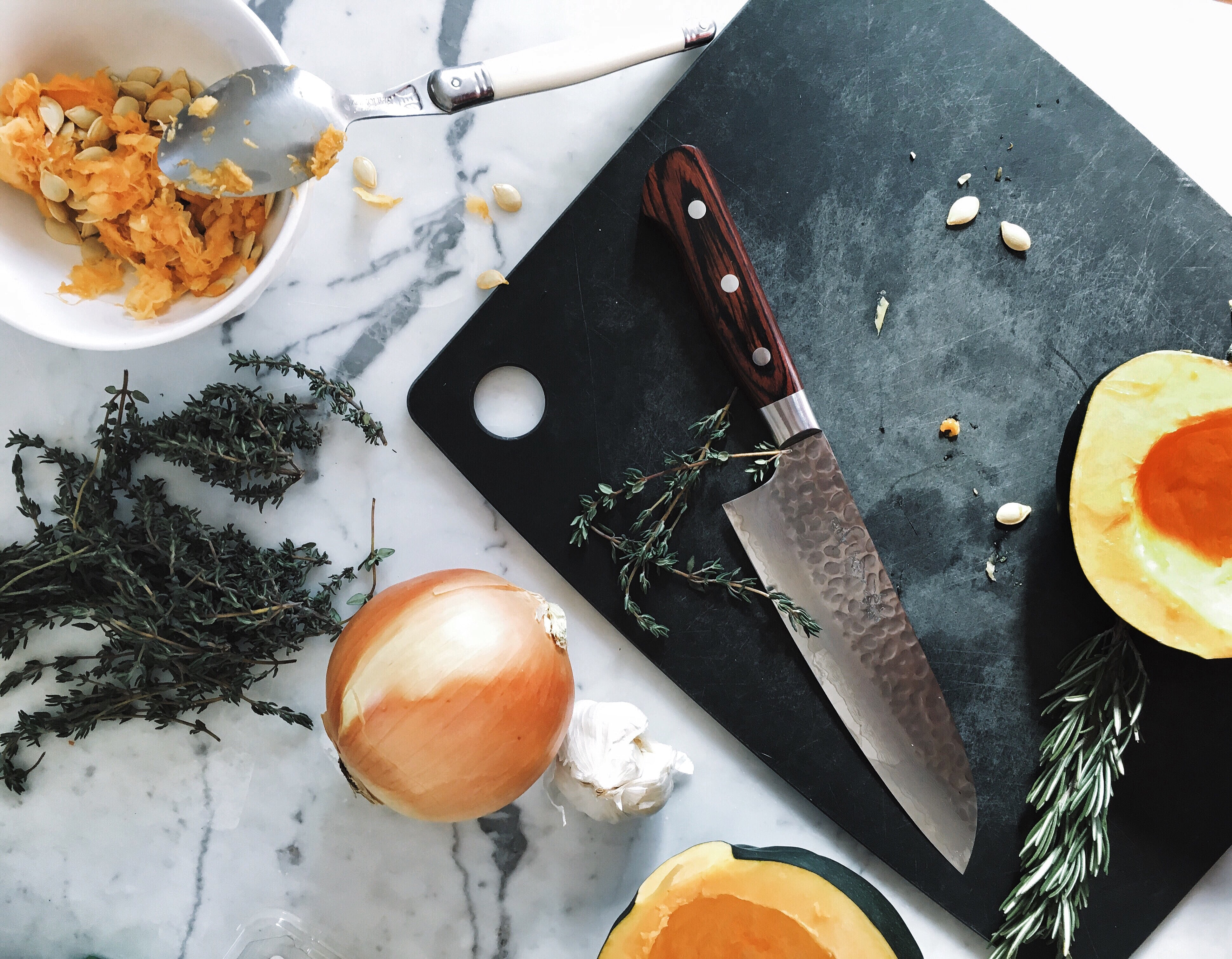 Vegan Stuffed Acorn Squash by The Conscious Collective