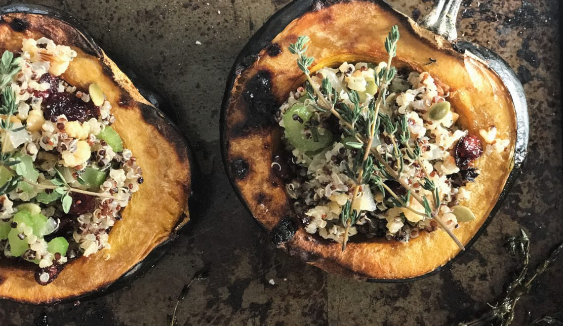 Vegan Stuffed Acorn Squash