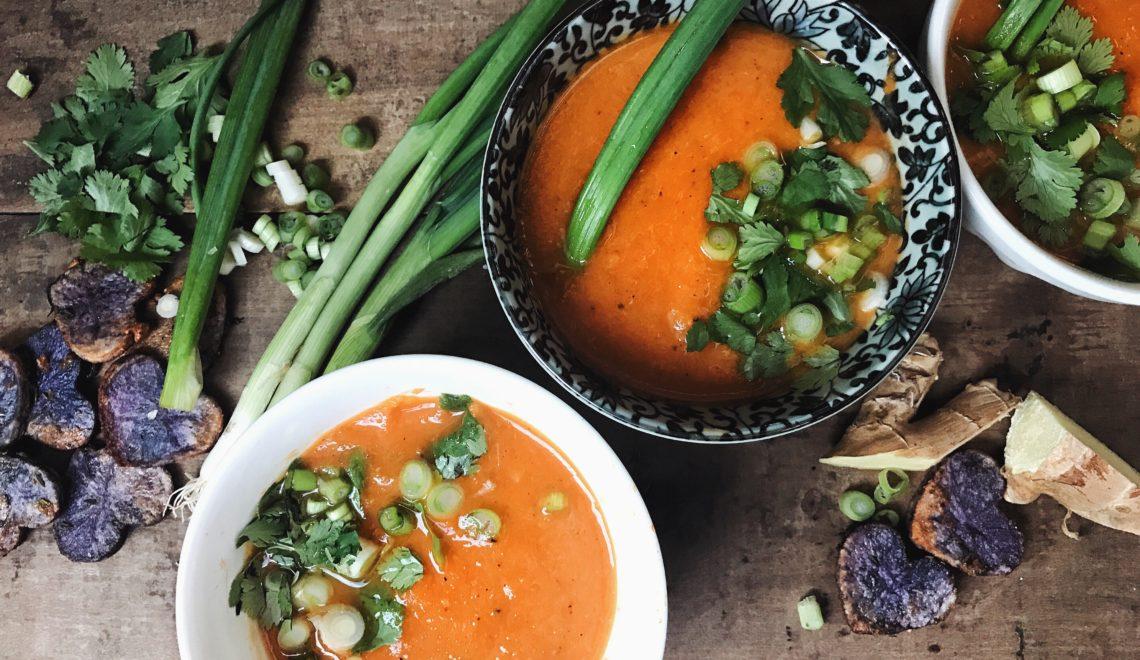 Valentine's Day Soup: Carrot Ginger Jalapeño